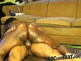 BLACK BF OILS HER GF'S SEXY ASS AND FUCK !!