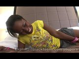 Ebony Teen Sloppy Head Giver in Amateur Video