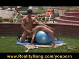Young Busty Brunette Pricilla Milan is Flexible &amp; Fucked outdoors