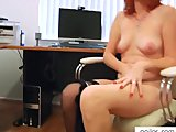 Porn Tube of Redhead Milf Fucks Hairy Pussy