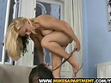 Hot blonde cutie Chanel gave a superb blow job