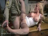 Soldier Unloads His Package On A Hot Babe