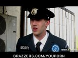 Sexy brunette British spy Stacey Lacey is caught &amp; fucked by cop