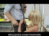 Sexy blonde student Alexis Monroe fucks her teacher for a grade
