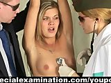 Sexy babe passing through humiliating medical examination