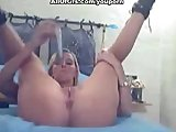 Dildo toy masturbation and boobs show