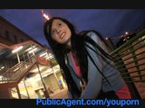 PublicAgent Timea looks great in underwear and sucking my cock