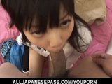 Sweet and innocent schoolgirl Minami Asakas pussy eaten