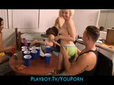 Hardcore party girls crash a dorm party and start an orgy