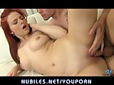 Redhead amateur pussy pounded by cock