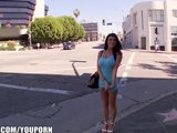 Romi Rain shows off her big-tits and pink pussy in a taxi cab