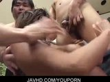Tiny pink pussy gangbang with sexy Yoshiki Aogiri