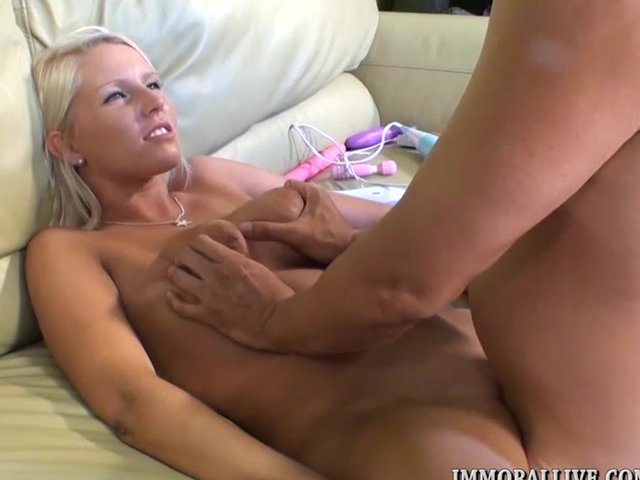 naked tiny blonde squirts