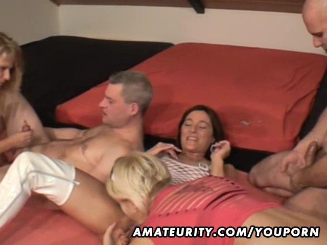 video naughty amateur german milf group action