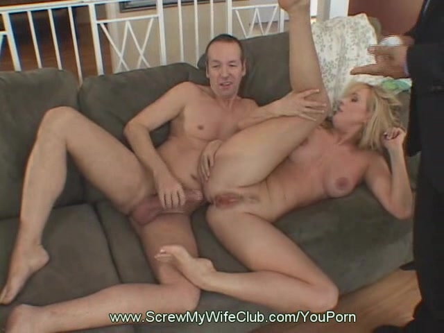 Husband watches wife take black cum