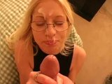 School Girl In Glasses Gets Glazed - Sologirlcontent