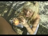 Blonde Babe Uses Mouth, Feet...And Fruit - Wildlife