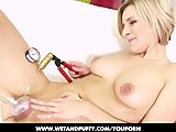 Bianca Ferrero is playing with her favorite toy