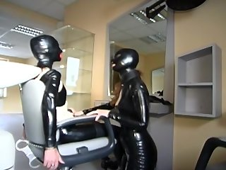 Leather Kink video: Kinky Hairdressers - Absurdum Productions