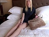 Real True Blonde Iowa Girl Nervously Doing Her First Time Video
