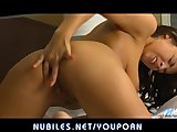 Bigtit beauty Evi Fox finger fucks her cute ass