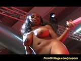 big black boobs on show stage