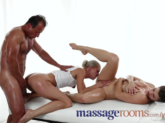 oily rooms threesome have Sensual massage orgasms