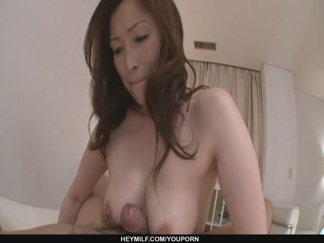 no video horny milf babe miyama ranko rides cock on pov.
