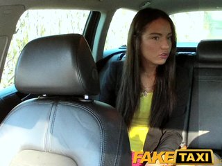 : FakeTaxi Hot Budapest girl in airport taxi blowjob