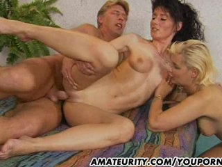 Amateur Milf anal action with facial ...