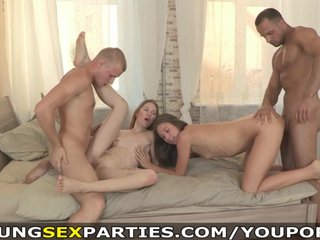 Young Sex Parties – Guys fuck their girlfriends together