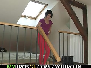 Cheat Czech Euro video: She cheats with her BF's brother