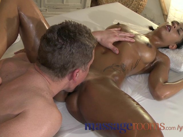 Black guy cums in pussy