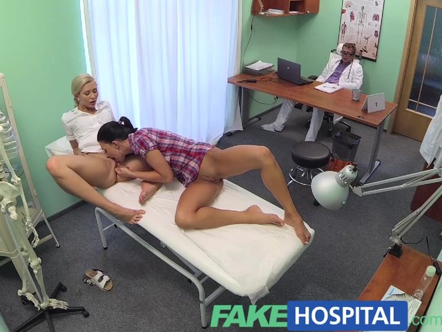 Fakehospital horny doctor gives sexy slim blonde orgasms 1