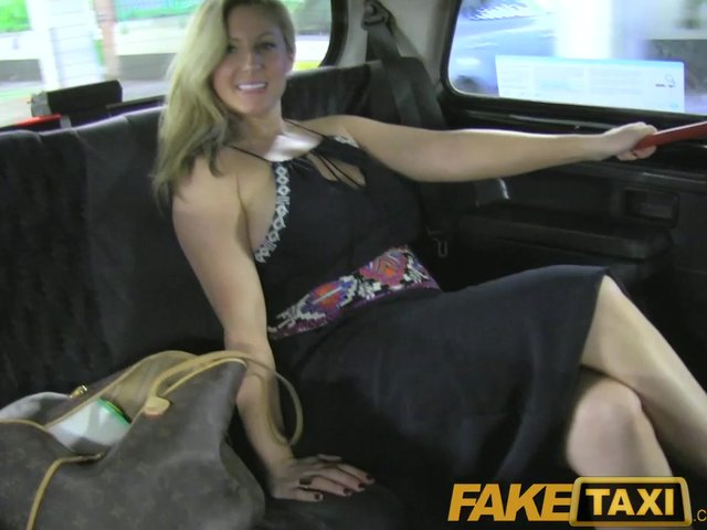 Costumed gal fucking taxi