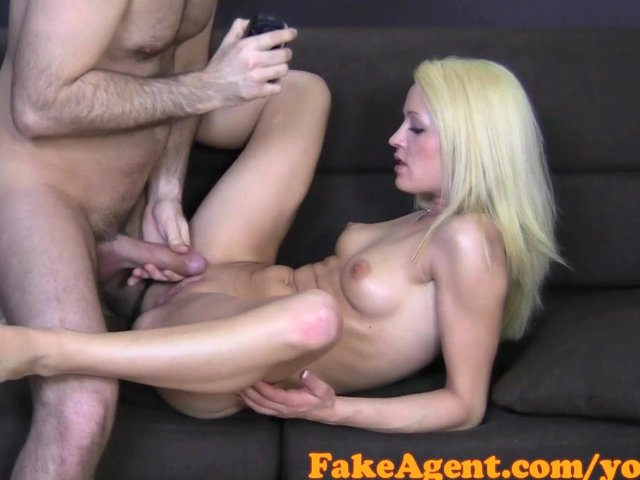 Fakeagent blonde with amazing natural tits fucks for a job 6