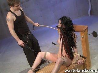 Femdom Spanking Dildo video: Hardcore flogging session
