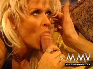 Lingerie Fingering Blonde video: MMV Films Busty Blonde Mature enjoys a good fuck