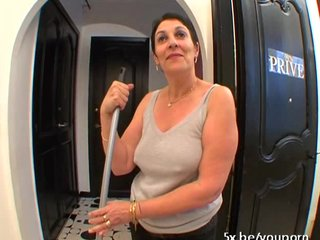 French Blowjob Mature video: He fucked his maid during she was working