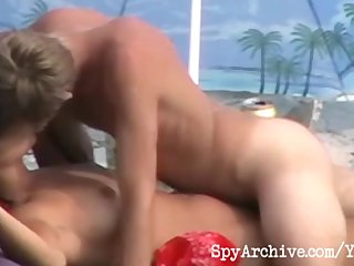 Hot voyeur sex scene from the beach