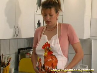 German Amateur video: pregnant housewife needs sex