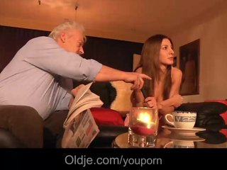 Rich oldman fucks in ass his younger girlfriend