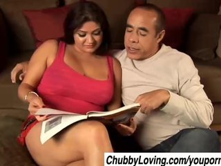 Boobs Busty Chubbie video: Mimi is a beautiful big tits babe who loves to eat cum