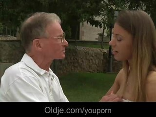 Big boned oldman drills Nikky's young ass and pussy