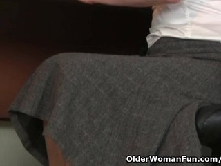 Hairy Milf Hairy Mom Hairy Mommy video: Hairy gilf in pantyhose needs to get off