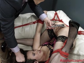 Casey Calvert gets tied up, dominated, and degraded at the mental hospital