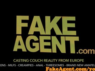 Audition Casting Couch video: FakeAgent Brunette waitress will do anything to become a fashion model
