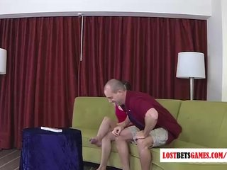 Babe Homemade Real Lesbian video: A guy and a girl play a game of word jumble