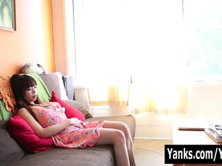 Petite Asian Amy Masturbating
