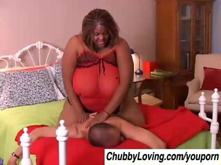 Beautiful black BBW Minxxx has amazing big tits